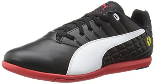 - PUMA Men's Pedale SF Motorsport Shoe,Black/White/Rosso Corsa,7 M US