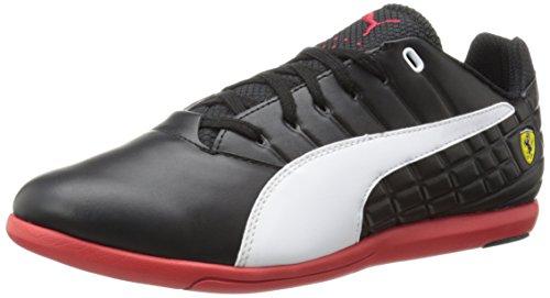 PUMA Men's Pedale SF Motorsport Shoe,Black/White/Rosso Corsa,11.5 M US