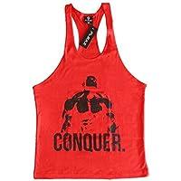 Flexz Fitness Rojo Conquista Singlet | Camiseta
