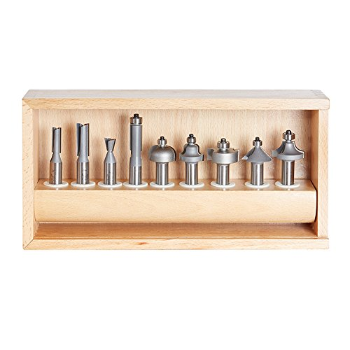 Amana Tool AMS-211 11-Piece Carbide Tipped Router Bit Set 1/2 Inch SHK by Amana Tool