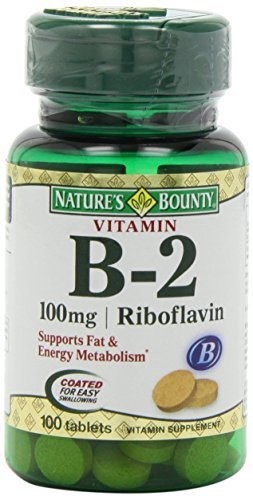 Nature's Bounty Vitamin B2, 100mg, 100 Tablets by Nature's Bounty