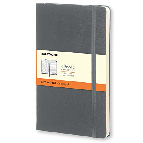 Moleskine Classic Ruled Notebook Large Hard Cover Slate Grey