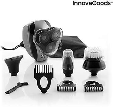 InnovaGoods | Afeitadora eléctrica recargable 5 en 1 | cabezales intercambiables | Negro: Amazon.es: Salud y cuidado personal