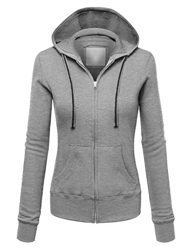 [AuntTaylor Teens 2016 Winter Warm Sport Coat Full-Zip Jacket Hoody Gray XL] (Winter Warm Zipper Closure)