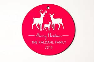 Personalized Custom Christmas Tree Ornaments Holiday Home Decor (Family of 3)