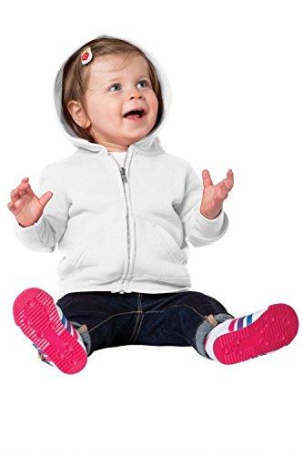 Precious Cargo unisex-baby Full Zip Hooded Sweatshirt 18M White