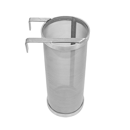 ProMaker Stainless Hop Spider Beer Keg Dry Hopper Filter Screen Strainer 300 Micron Mesh for Home Beer Brewing Kettle Kegging Equipment (4 X 10 inch) by ProMaker