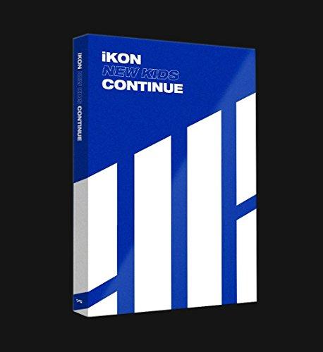 Genie Music iKON - NEW KIDS : CONTINUE [Blue ver.] (Mini Album) CD+Photobook+Postcard+Photocard+Folded Poster