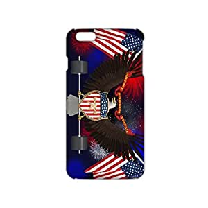 Fortune US flag and eagle sign 3D Phone Case for iPhone 6