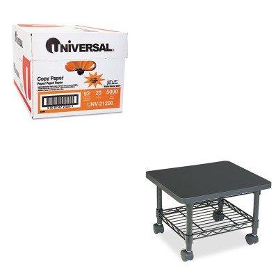 (KITSAF5206BLUNV21200 - Value Kit - Safco Underdesk Printer/Fax Stand (SAF5206BL) and Universal Copy Paper (UNV21200))