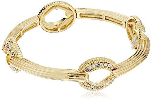 Napier Gold-Tone and Crystal Stretch - Tone Gold Napier Bracelet