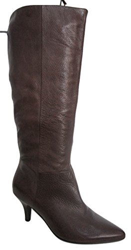 Dark FAITH Calf Brown Leather Mid Boots Pointed 11qf04X
