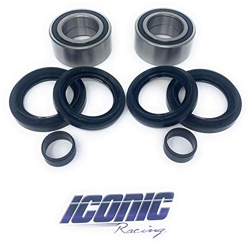 Iconic Racing Both Front Wheel Bearing and Seal Kits Compatible With Honda 05-14 TRX500 FA FE FGA FM FPA FPE FPM Fourtrax Foreman Rubicon TRX680 ()