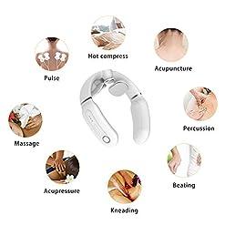 YA&NG Smart Electric Neck Massager Deep Tissue Cervical Vertebra Massage Device Mini Hot Compress Shiatsu Massager with… Hot New [tag]
