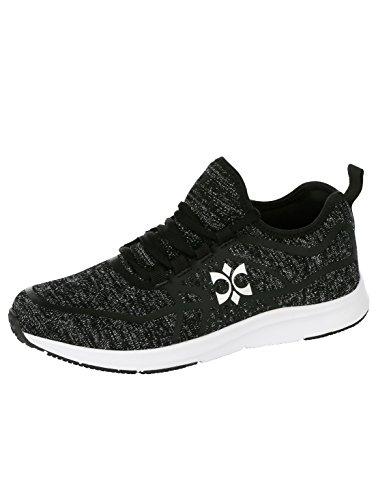 mit Damen Sneaker Priority Elastischem Obermaterial Schwarz by xwUESFq4E