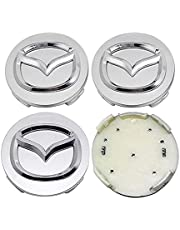 4pcs Naaf Middenaftakking Naafafdekking 52mm Voor Mazda Mx3 Cx3 Cx5 2 3 6 323 626 Rx8 Rx7 Logo, Auto Wiel Center Hub Caps Stofdicht Cover Wieldoppen Auto Velgen Badge Emblem