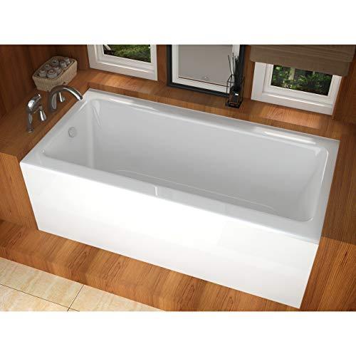Atlantis Whirlpools 3260shl Soho Rectangular Soaking Bathtub, 32 X 60, Left Drain, - Rectangular Tub Soaking