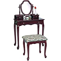 Coaster Home Furnishings 3441 Traditional Vanity, Cherry