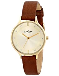 Skagen Women's Anita SKW2147 Brown Leather Leather Quartz Watch
