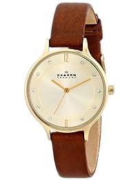Skagen Women's Anita SKW2147 Brown Leather Leather Quartz Watch