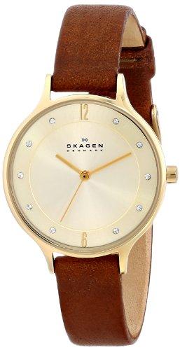 Skagen Women's SKW2147 Anita Saddle Leather Watch