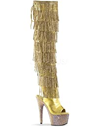 Amazon.com: Gold - Over-the-Knee / Boots: Clothing, Shoes & Jewelry
