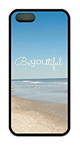 Beach Quote Beyoutiful Theme Case for iPhone 6 plus Rubber Material Black