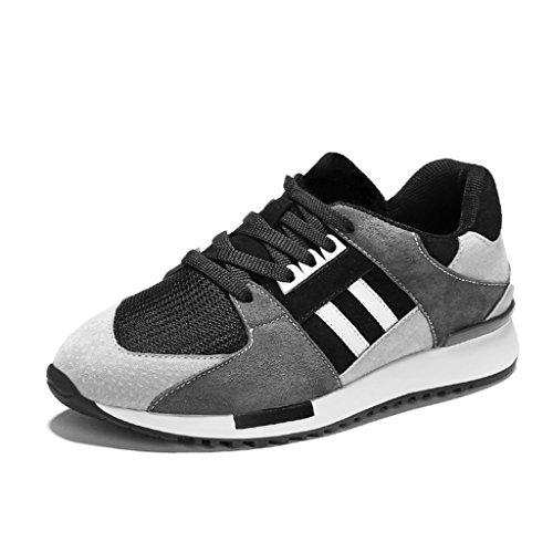 HWF Zapatos para mujer Zapatos deportivos de primavera Zapatos corrientes femeninos Zapatos ocasionales de malla respirable Zapatos de mujer ( Color : Pink , Tamaño : 39 ) Black Gray