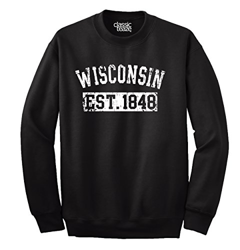 Classic Teaze Wisconsin State Printed Crewneck ()