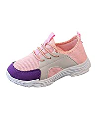 Naladoo Baby Boy Girl Sport Run Sneaker Stitching Breathable Mesh Casual Shoes