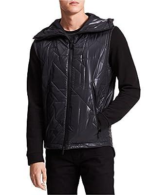 Calvin Klein Mens Quilted Geomtric Outerwear Vest