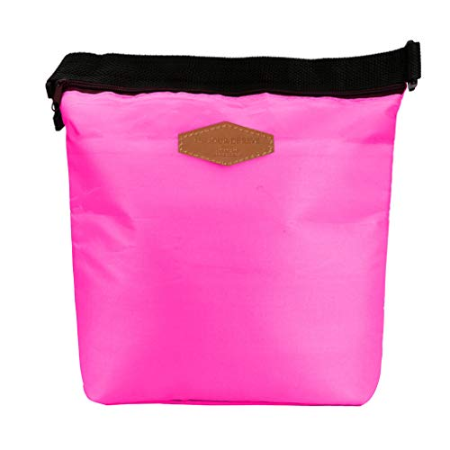 HighlifeS Lunch Bag Waterproof Thermal Fashion Cooler Insulated Lunch Box More Colors Portable Tote Storage Picnic Bags (Hot pink) by HighlifeS (Image #5)