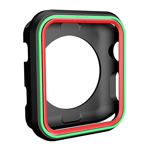 AWINNER Colorful Case for Apple Watch 42mm,Shock-proof and Shatter-resistant Protective iwatch Silicone Case for Apple Watch Series 3,Series 2,Series 1, Nike+,Sport,Edition (12-Colour) by AWINNER (Image #4)