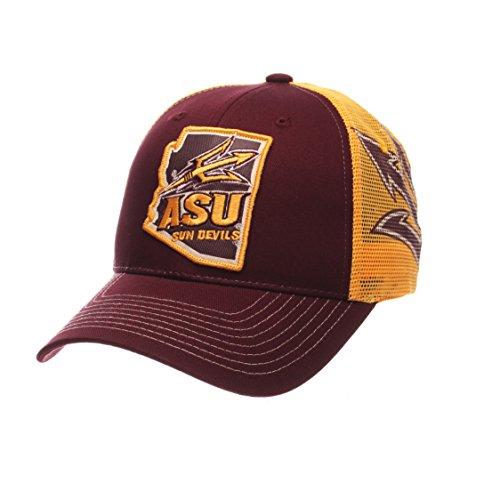 NCAA Arizona State Sun Devils Men's Interstate Trucker Cap, Adjustable, - Cap Devils Sun State Arizona