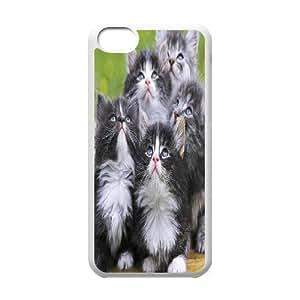LJF phone case C-Y-F-CASE DIY Cute Cat Pattern Phone Case For phone Iphone 5C
