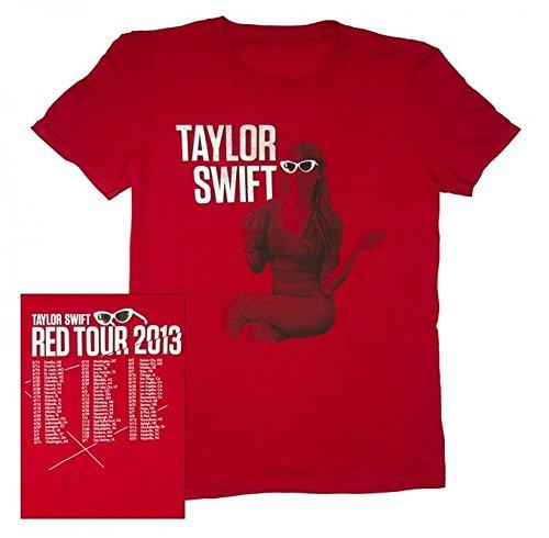 "TAYLOR SWIFT T-SHIRT VINTAGE ""Red Sitting"" TOUR TEE Small or Medium (Medium)"