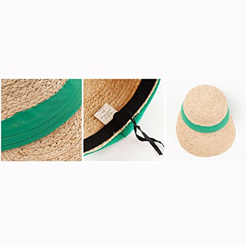 Donna Protezione Anatra Solare Lingua Cappello Sole Spiaggia colore Estate Qiqidedian Parasole Verde Baseball Paglia Berretto Marrone Da f4P00qtRY