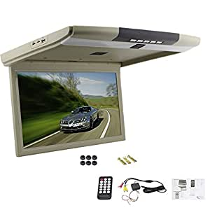 15 '' TFT del jugador OverHead tapa de coches LED Monitor LCD monitor de pantalla de montaje en techo con mando a distancia USB SD Soporta entrada de video 2