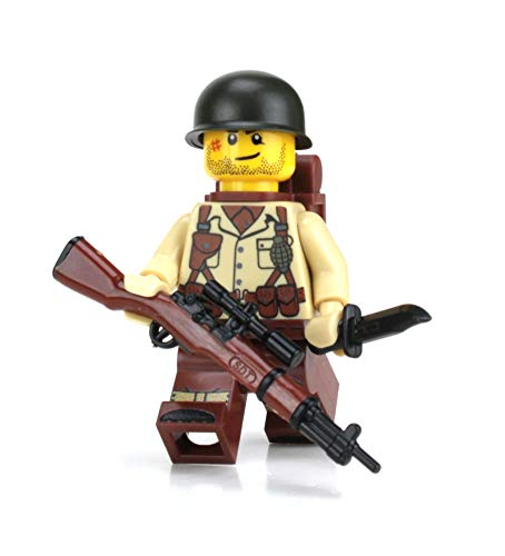 Battle Brick US Army Soldier WW2 (SKU57) Custom ()