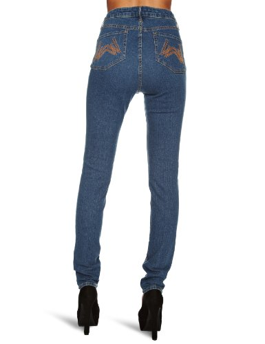 Wizards of the Coast - Vaqueros skinny fit para mujer Azul (Stonewash Blue)