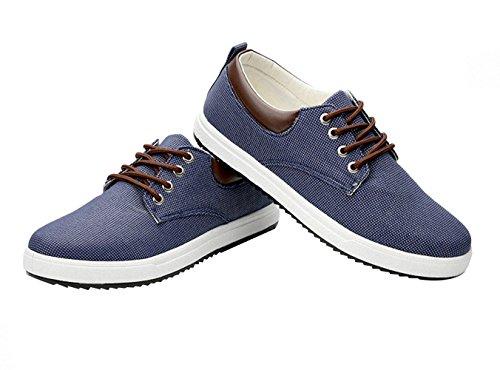 tela nuovo classiche Bomkin blu da uomo Scarpe wtAIXT