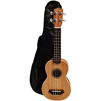 Hula Beach Colorful Soprano Ukulele With Gig Bag Tiki Brown Ukh15-br New In Box Excellent Quality Acoustic Electric Guitars