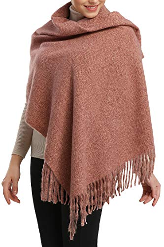 Women Men Winter Thick Cable Knit Wrap Chunky Warm Scarf All Colors Fringe Red Beige