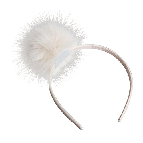 ACTLATI Girls Headband Big Single Pompom Fur Fluffy Ball Hairband Party Headwear