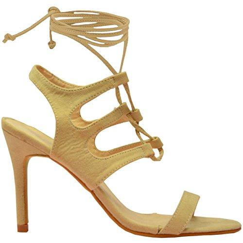 Cucu Beige beige de Bride cheville femme Fashion YqnwPZqrx8
