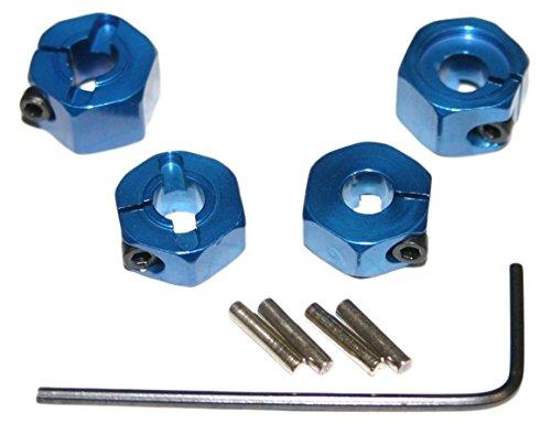 Hot Racing TE1006SL Blue Aluminum 12mm Wheel Hex 2WD 4