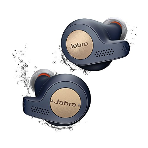 Jabra Elite Active 65t Alexa Enabled True Wireless Sports Earbuds with Charging Case - Copper Blue (Renewed) (Nrc Sports)