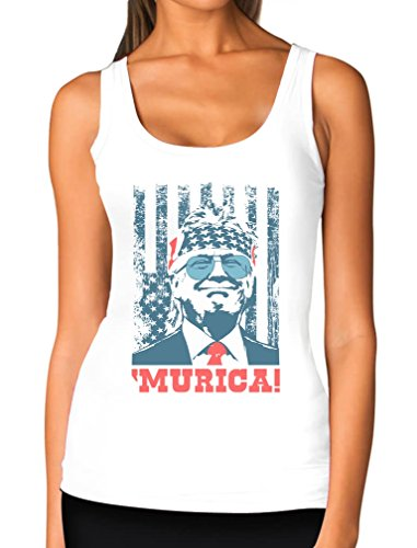 Donald Trump Murica Patriotic American Party 4th of July USA Women Tank Top