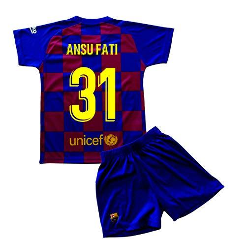 Champion's City Kit Camiseta y Pantalón Infantil Primera Equipación – FC Barcelona – Réplica Autorizada – Jugadores