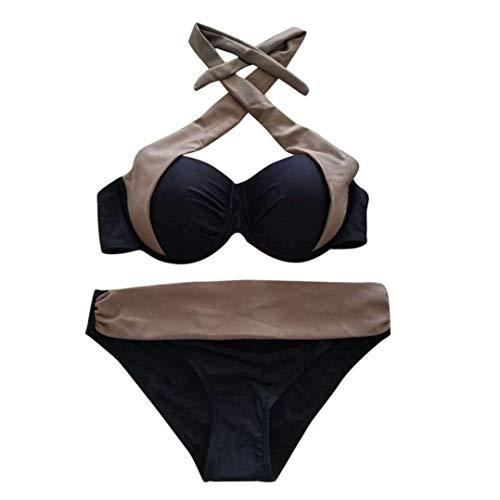 ba Traje o de para Conjunto o mujer de Traje Trikini Traje de Bajo Alto Vendaje Brasile o piezas 2 Cintura ba Nataci Bikini de ba o Up Push dYXwxwq